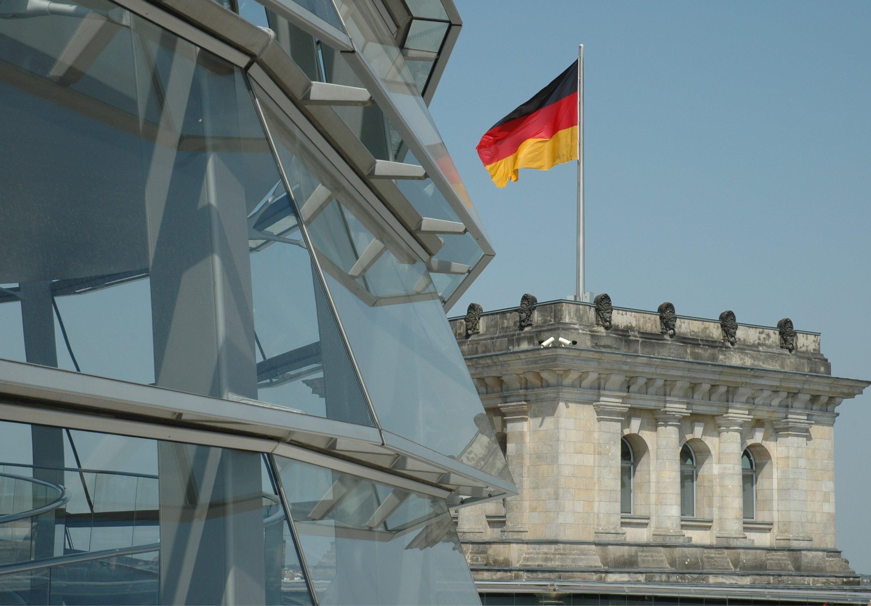 Berlin, Glaskuppel / Dach des Reichstages