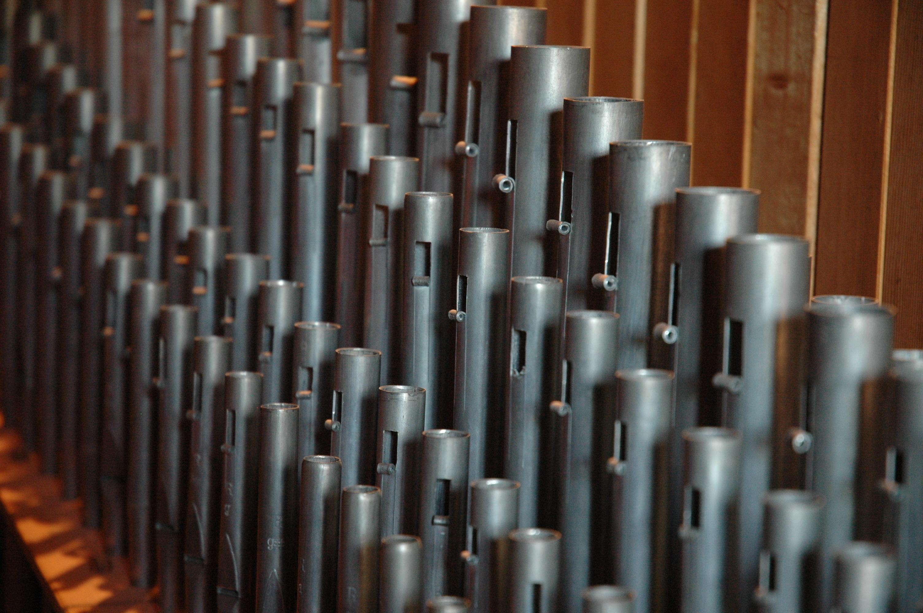 Innenansicht der Orgel in der ev. Kirche Laubach