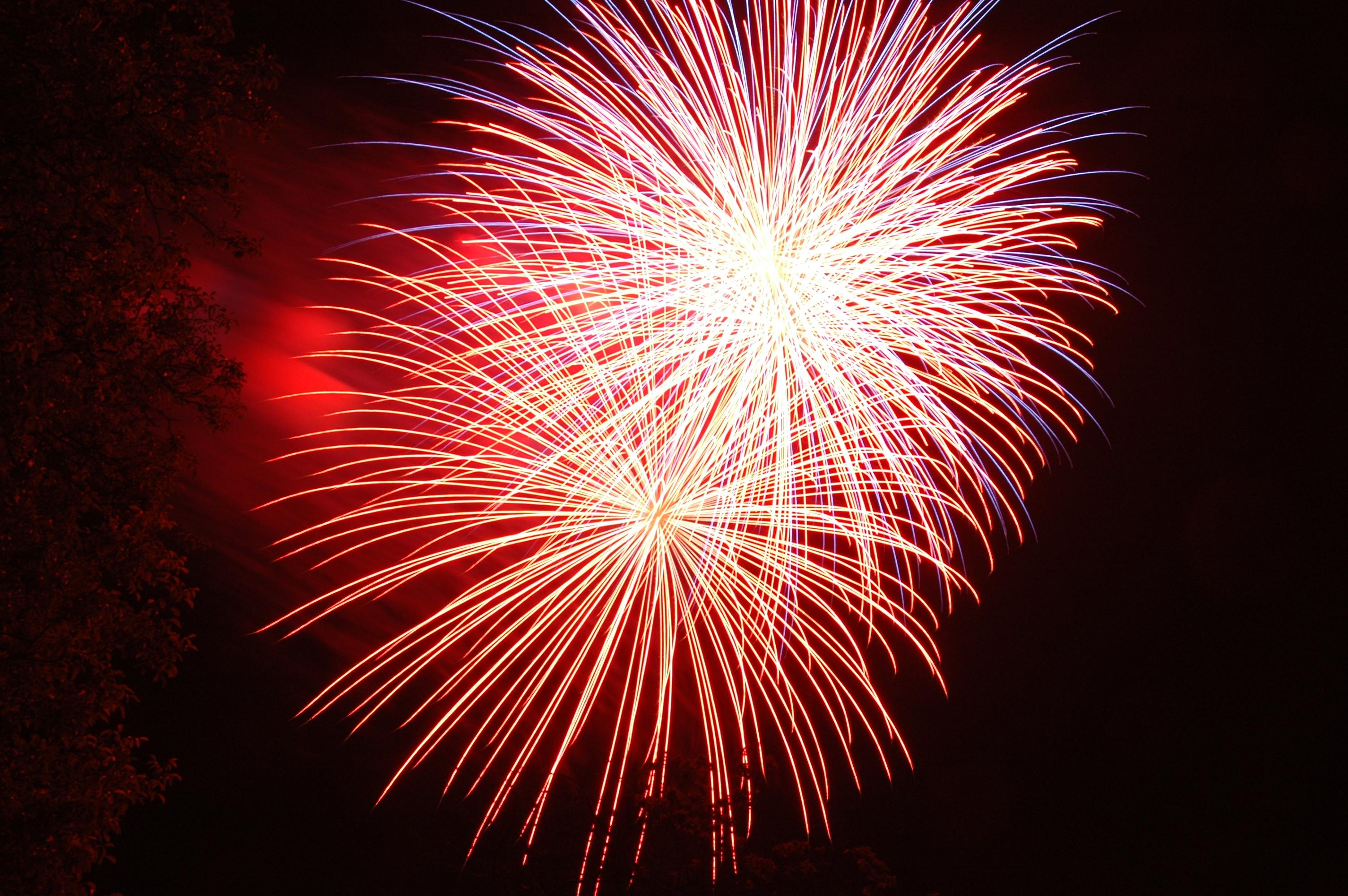 Feuerwerk am Laubacher Lichterfest