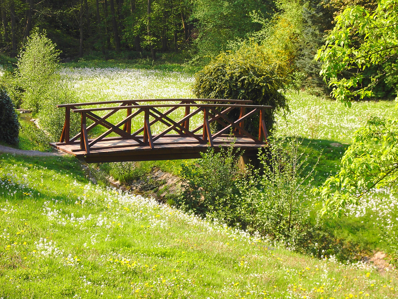Brücke im Laubacher Schloßpark